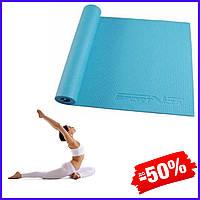 Гимнастический коврик йога мат SportVida Pvc 6 мм SV-HK0053 Sky Blue для фитнеса, йоги, пилатеса и аэробики