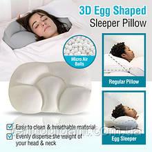 Анатомическая ультракомфортная подушка для сна Egg Sleeper Подушка ортопедическая с эффектом памяти