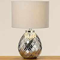 Настольная лампа серебро h37см керамика  1001628