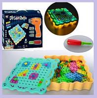 """Детский развивающий конструктор """"Diy Light Puzzle"""" на шурупах 200 деталей   Конструктор - Болтовая мозаика"""