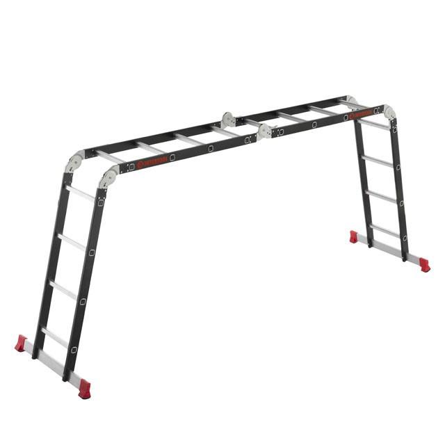 Лестница мультифункциональная трансформер 4х4ступени, стальной профиль, 4450мм, 150 кг INTERTOOL LT-0024