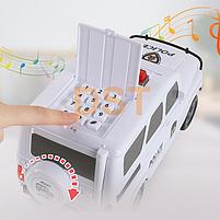 Копилка в виде машинки Сейф-машинка на кодовом замке и автоматическим купюроприёмником ЧЕРНАЯ, фото 6