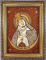 Ікона з янтаря Остробрамська і-151 Божої Матері 20*30