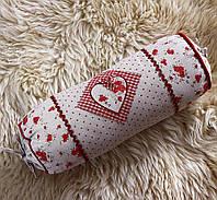 Подушка цилиндр-Сердце с розочками 204202