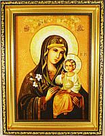 Ікона з янтаря Нев'янучий Цвіт і-62 20*30