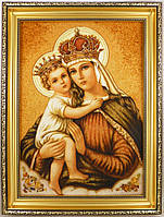 Ікона з янтаря Богородиця і-03 Божої Матері 30*40