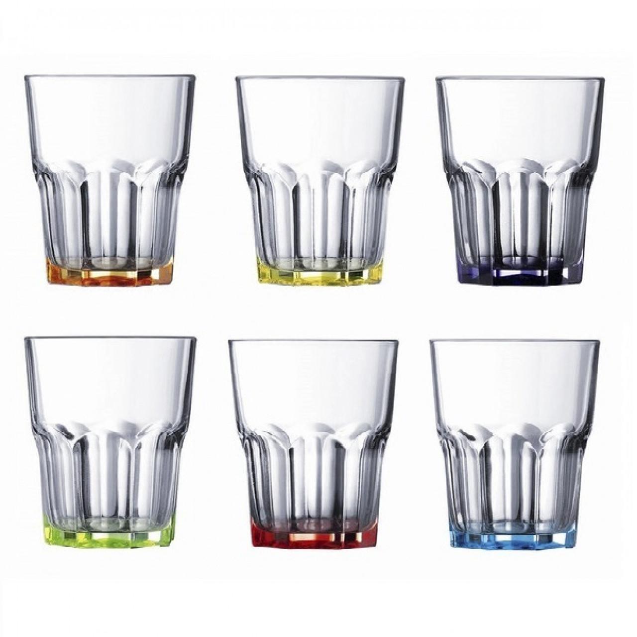 """Набір склянок скло """"Luminarc. Брайт Колорс Нова Америка"""" (6шт) 270мл 17782 / 8933"""
