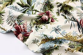 Декоративная ткань/ панама Пальмы