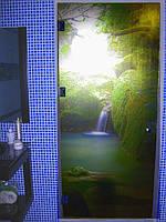 Фотопечать на стеклянных дверях. Заказать, Киев