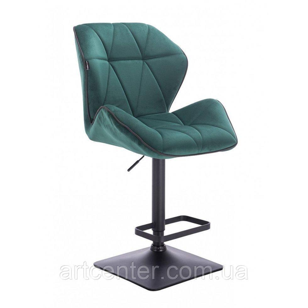 Кресло для визажиста Texas, хромировання круглая основа, велюр бутылочный