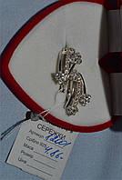 Серебряные серьги 925 пробы с множеством цирконов, фото 1