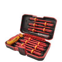 Tolsen Tools Комплект: ізольована викрутка зі змінними стрижнями ПРОФІ 13 предметів