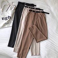 Женские классические брюки. Размеры: 42-44, 44-46. Цвета: черный, хаки, светлый беж, мокко, графит, коричневый