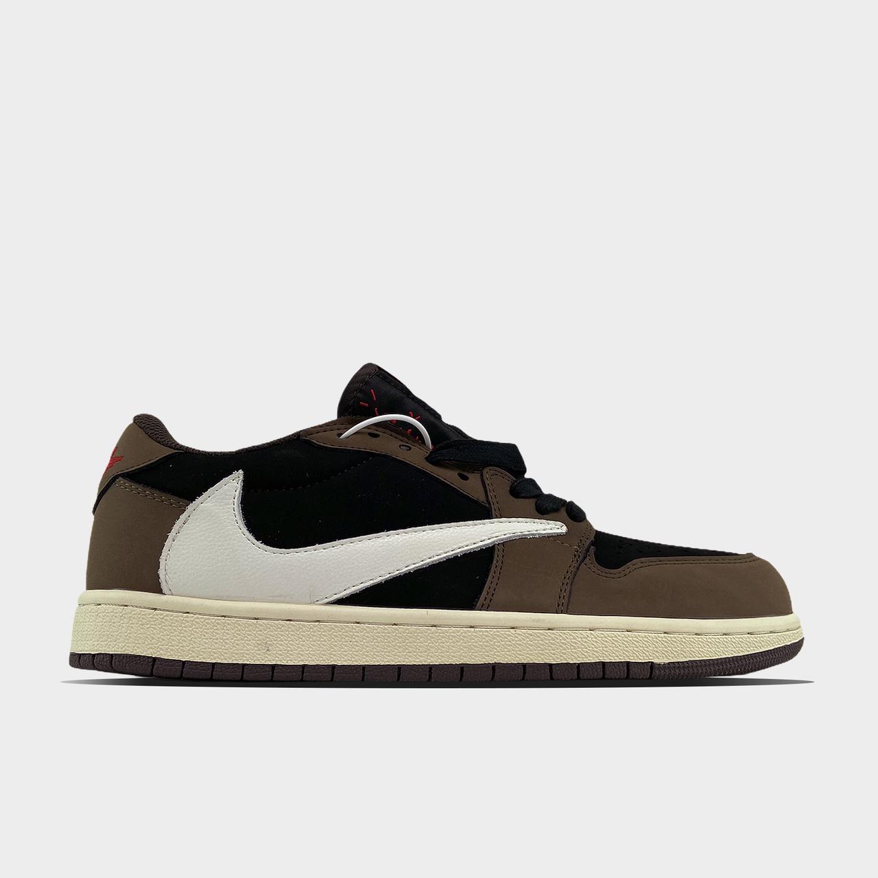 Nk, крос, обувь, взуття, sneakers, шузы, Air Jordan 1 Low Brown Travis Scott (Коричневый)