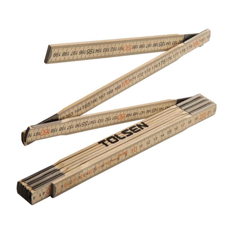 Tolsen Tools Лінійка розкладна дерев'яна ПРОФІ 2 м