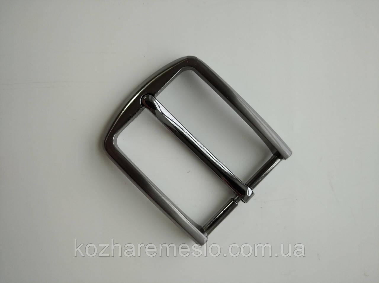 Пряжка для ременя 35 мм темний нікель