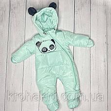 """Детский демисезонный  комбинезон """"Панда"""" 74 размера - осенне-весенний комбинезон для деток от 6 до 12 мес, фото 3"""