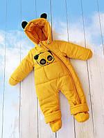 """Детский демисезонный комбинезон """"Панда"""" 68,74,80 размер - осенне-весенний комбинезон для деток от рождения"""