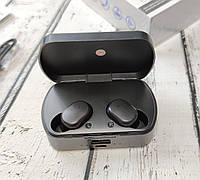 Беспроводные наушники bluetooth блютуз для телефона Ipod Ipad iphone черные с кейсом