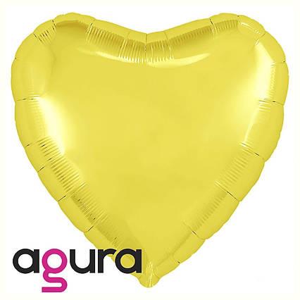 Куля фольгований серце рожеве золото 45 см,Flexmetal Іспанія