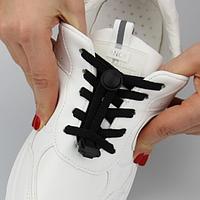 Эластичные ленивые шнурки KIWI 100 см черные
