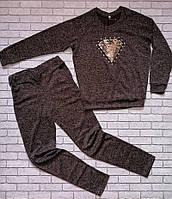 Женский стильный костюм с паетками, размер 50, 52