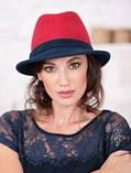 Шляпа из фетра мужского стиля цвет жемчужный - слива, фото 3