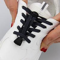 Еластичні ледачі шнурки KIWI 100 см темно-сірі