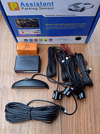 Парктронік Parking Sensor System 4 датчика діаметр 22 мм Колір чорний