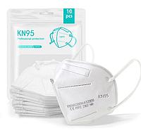 Маска Респиратор Защитная KN95 / FFP2 пятислойная 10шт в заводской упаковке с фиксатором переносицы