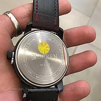 Оригинальные мужские часы кожаный ремешок Curren 8327 Red-Black / Часы Курен, фото 3