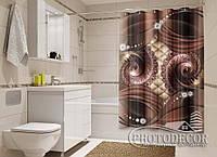 """Фото Шторка для ванной """"Орнамент со стразами"""""""