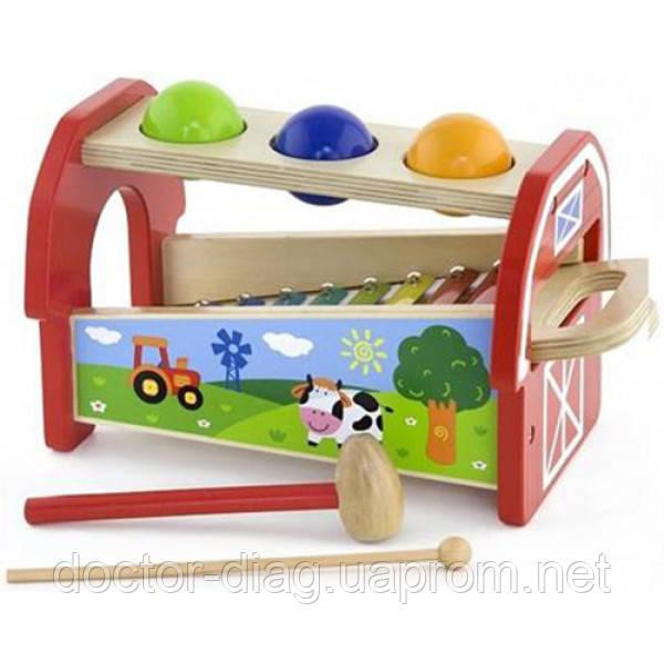 Viga Toys Музыкальная игрушка Viga Toys 2-в-1 Ксилофон (50348)