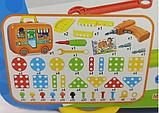 Конструктор-мозаика с шуруповертом 6 в 1 Portable Platter 258 деталей, фото 3