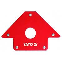 Сварочный угольник магнитный 102х155х17 Yato. YT-0864