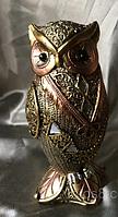 Денежная сова фэн - шуй, символ мудрости и благополучия, высота 16 см