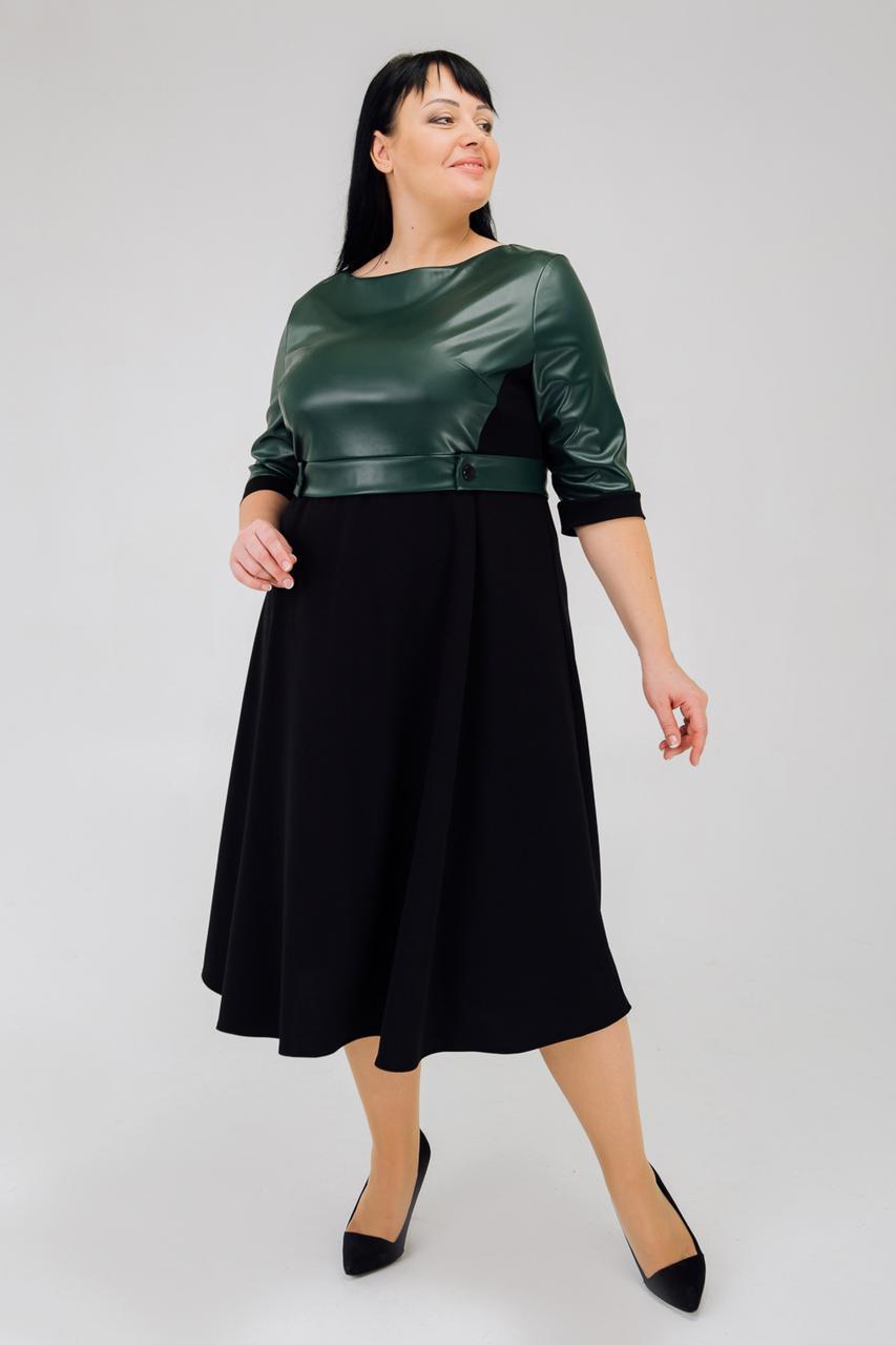 Сукня з екошкіри з 52 по 56 розмір