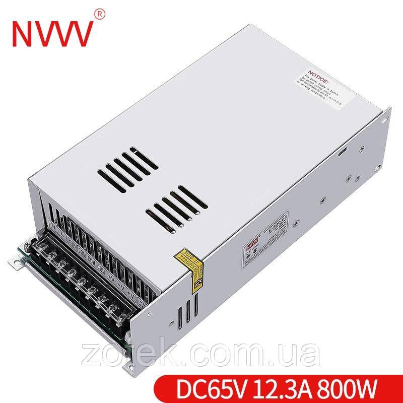 Импульсный источник блок питания NVVV S-800-65V 13.3A 800W для RD6012 65в 13,3а
