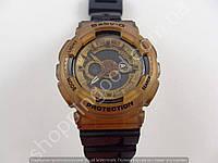 Детские часы Casio Baby G BA-111 5338 (013574) темный дисплей кофе с черным водонепроницаемые