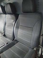 Авточехлы Peugeot Expert (1+2) 2007+ VIP Чехлы в салон (Экокожа + Ткань)
