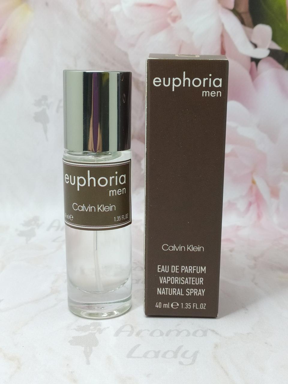 Мужской мини парфюм Calvin Klein Euphoria Men (Кэлвин Кляйн Эйфория Мен) 40мл