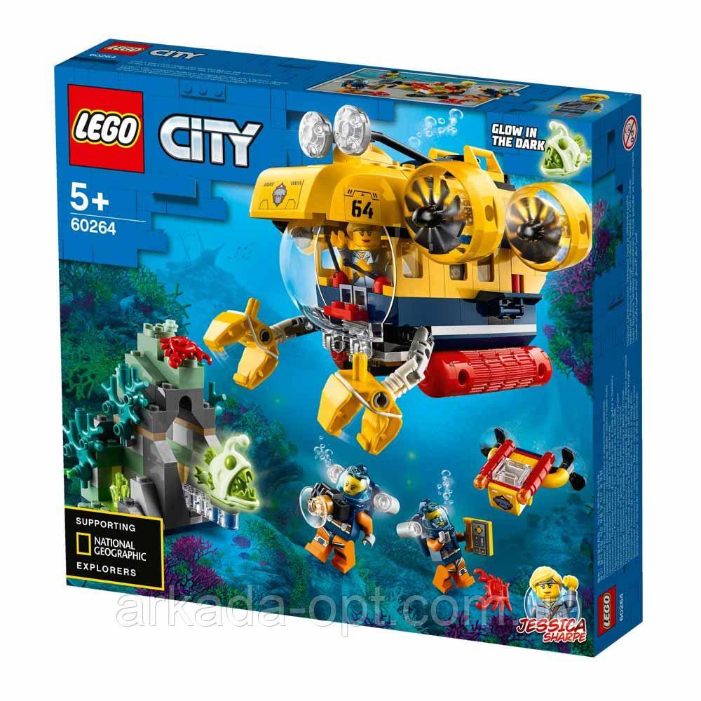 Конструктор Lego City Океан исследовательская база 286 деталей (60264)