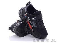 """Кросівки дитячі для хлопчика весна/осінь 023 black-red (26-30) """"Ok Shoes"""" купити оптом 7км"""