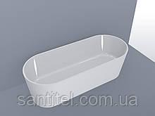 Ванна MIRAGGIO PROVIDENCE матовая с литого мрамора ( без перелива)