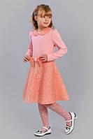 Нарядное платье для девочки с отложным воротником