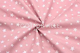 Ранфорс 240 см Зоряна розсип на пудрово-рожевому