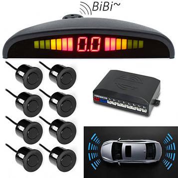 Парковочная система парктроник (8 датчиков парковки), Parking Sensor, парковочный радар на авто