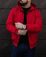 Куртка мужская весенняя осенняя демисезонная VM красная | Ветровка мужская весенняя осенняя ЛЮКС качества, фото 1