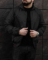 Куртка мужская весенняя осенняя демисезонная VM черная   Ветровка мужская весенняя осенняя ЛЮКС качества, фото 1