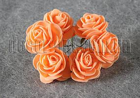 Букет персиковых розочек из латекса 4 см